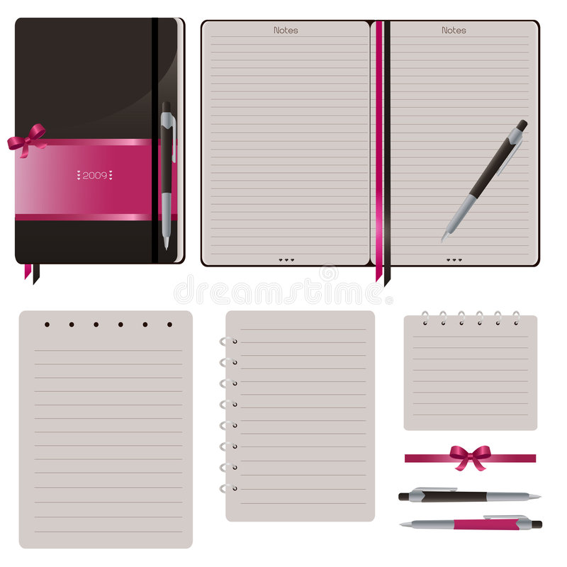 Set Of Notebook vector illustration