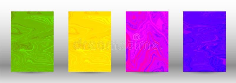 Set nowożytne pokrywy marmuru abstrakcjonistyczny wzór ilustracja wektor