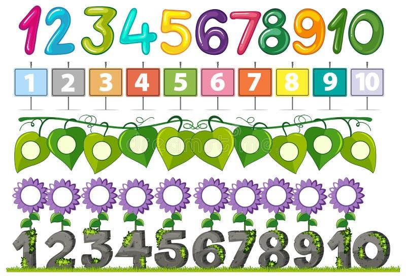 A Set of Number Font. Illustration vector illustration