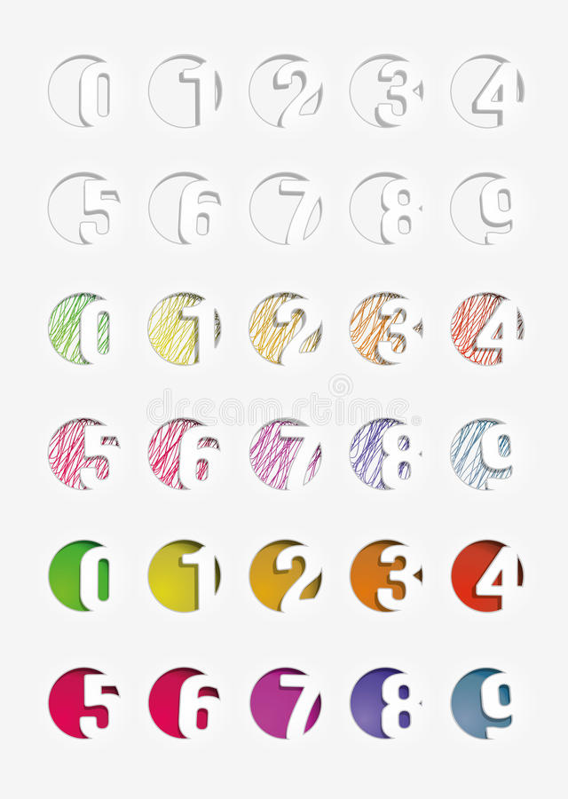 Download Set of the numbers. stock vector. Image of seven, collection - 28532469