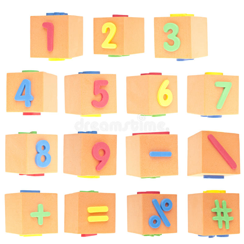 Download Set of Numbers and Symbols stock photo. Image of first - 20388108