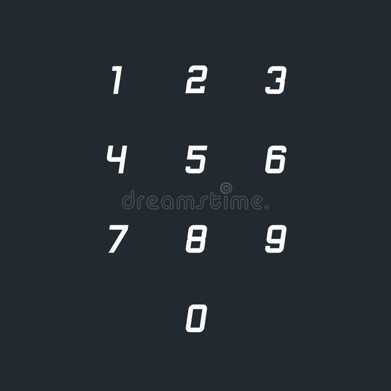 Set 0-9 numerowych ikon r?wnie? zwr?ci? corel ilustracji wektora ilustracja wektor