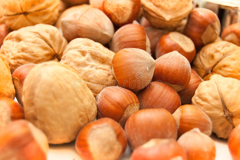 Set of nuts royalty free stock image