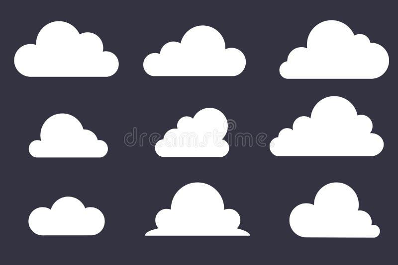 Set Obłoczna ikona wektor ilustracja wektor