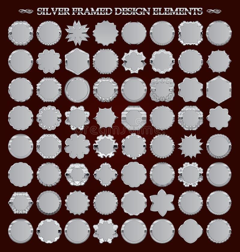 Set obramiający projektów elementy royalty ilustracja