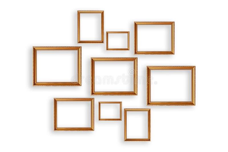 Set obrazek ramy na białym tle zdjęcia stock