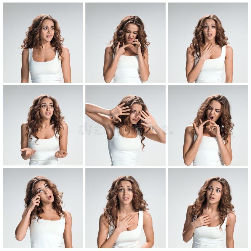 Set od wizerunków wstawiennictwo kobieta zdjęcie royalty free