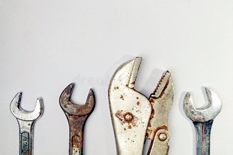 Set odizolowywający narzędzia zbliżenie obraz royalty free