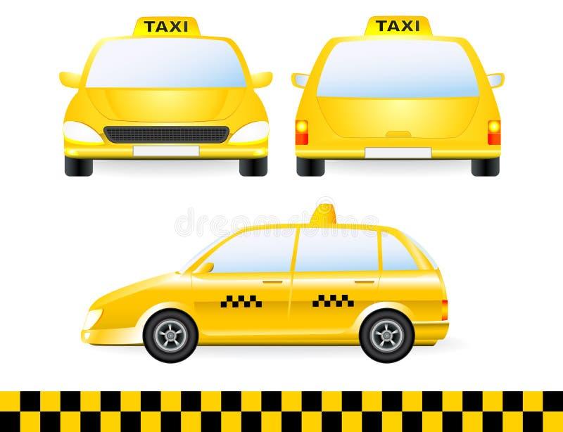 Set odosobnionego taxi samochodowa sylwetka ilustracja wektor