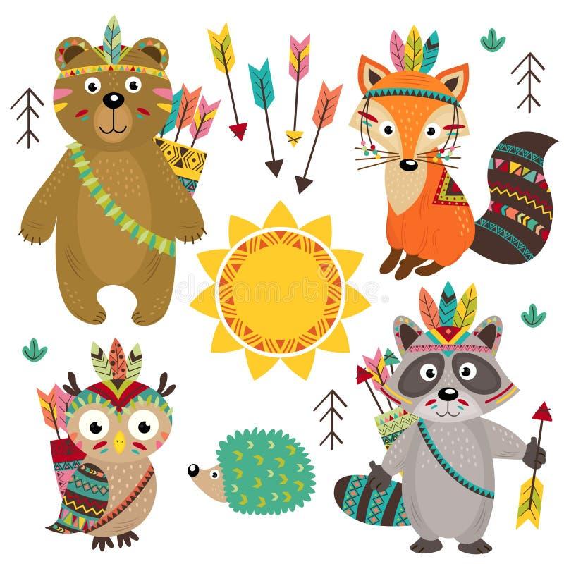 Set odosobniony plemienny zwierzęcia część 1 ilustracja wektor