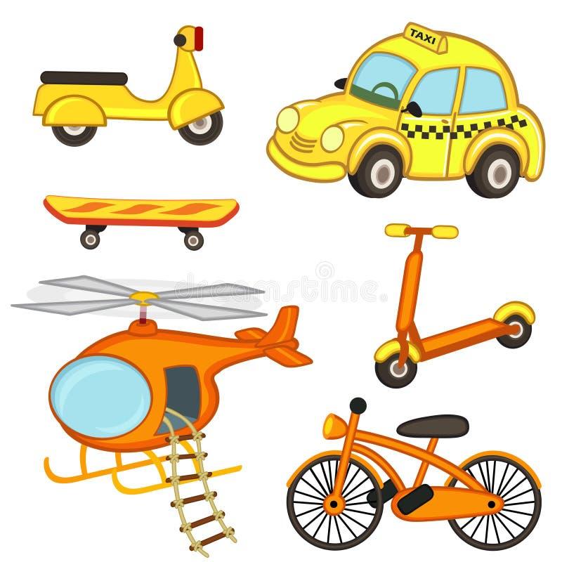 Set odosobniony transport ilustracji