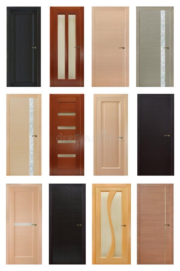 Free Set Of 12 Interior Wooden Doors Royalty Free Stock Photos - 35425998