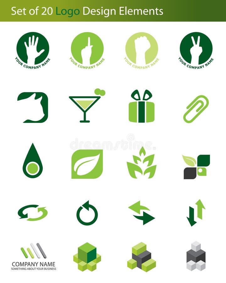 Free Set Of 20 Logo Elements Royalty Free Stock Photos - 5479688