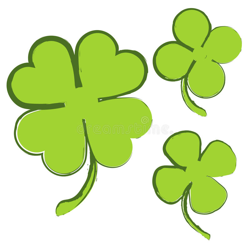 Free Set Of 3 Green Clovers On White Background Royalty Free Stock Photography - 79359247