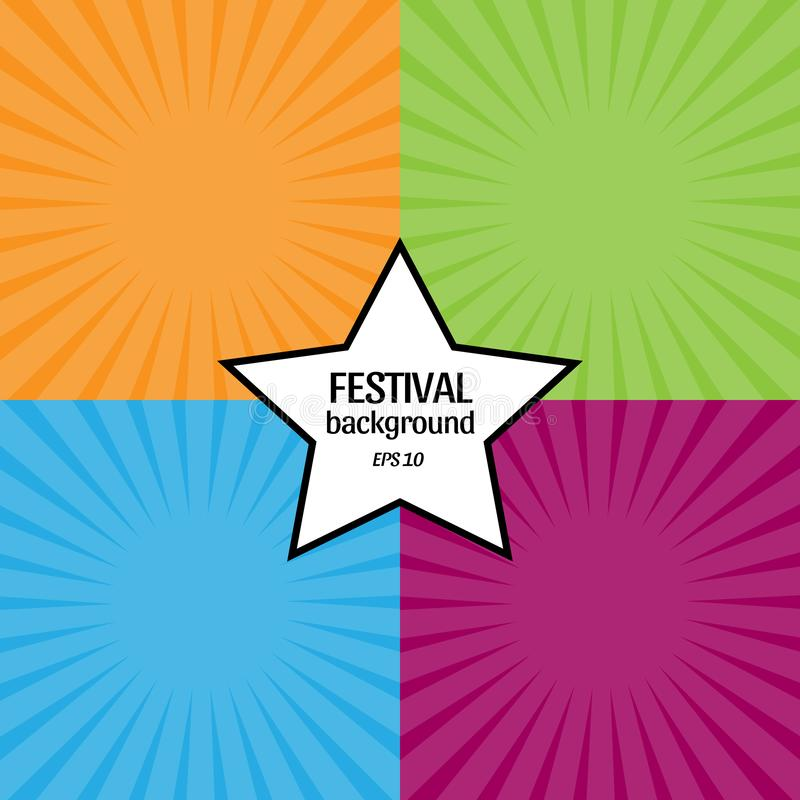 Free Set Of 4 Fun Festival Backgrounds Stock Photography - 160774682