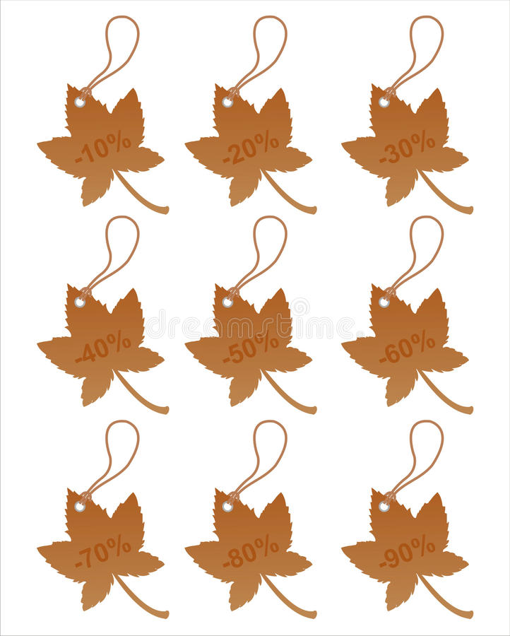 Free Set Of 9 Autumn Tags Royalty Free Stock Images - 15970669