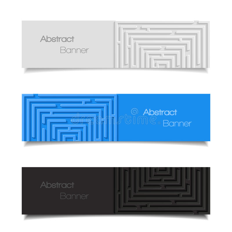 Free Set Of Abstract Banners Royalty Free Stock Photo - 47948575