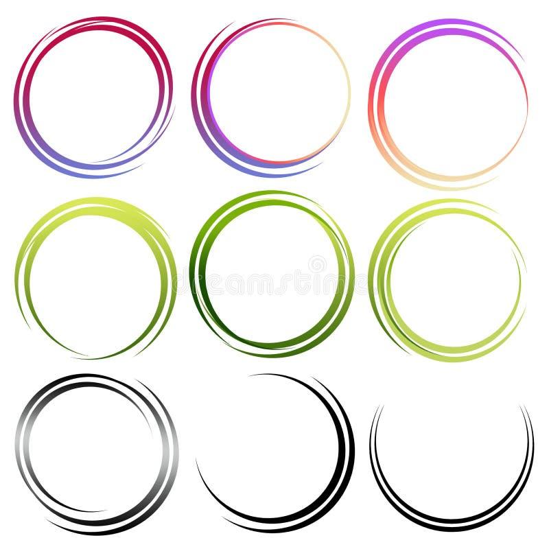 Free Set Of Abstract Circles Royalty Free Stock Photo - 16295785