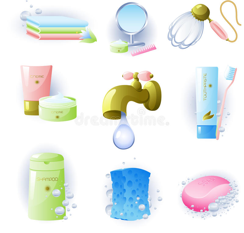 Free Set Of Accessories For Personal Hygiene Stock Photography - 10164632