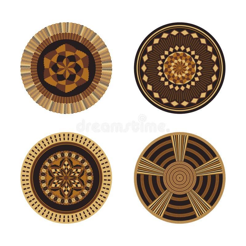 Free Set Of African Decorative Elements. Tribal Print Stock Photos - 140318373