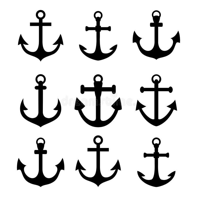 Free Set Of Anchor Symbols Royalty Free Stock Images - 66605909