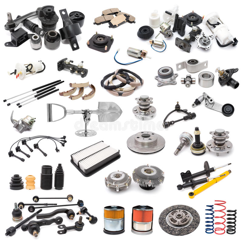 Free Set Of Auto Parts Royalty Free Stock Photo - 16829375