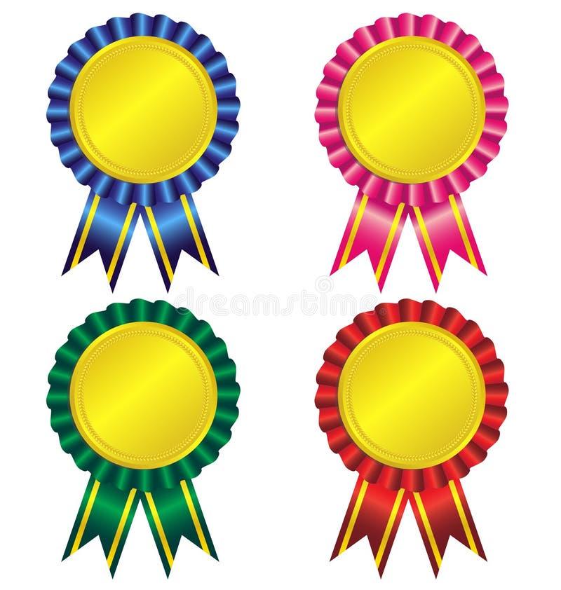Free Set Of Award Ribbon Royalty Free Stock Photos - 42024648