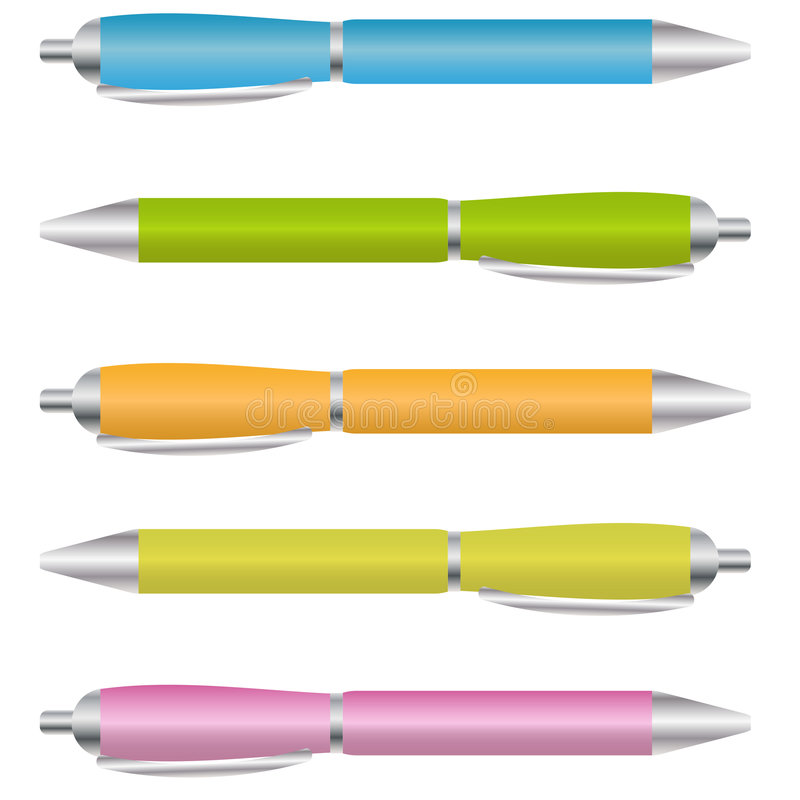 Free Set Of Ballpoint Pens Stock Images - 7861004