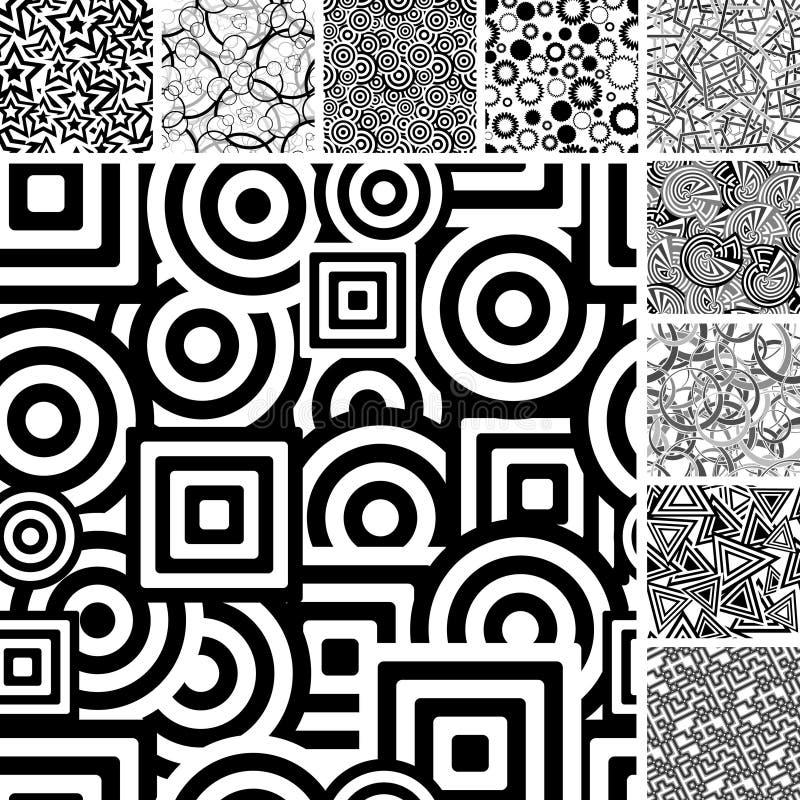 Free Set Of Black And White Patterns Stock Image - 10837111