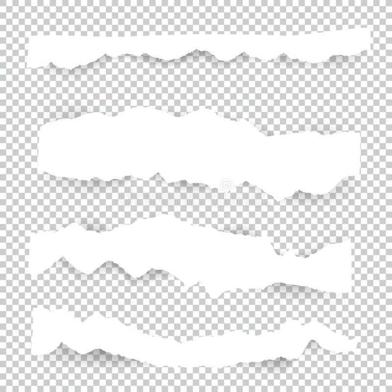 Free Set Of Blank Torn Paper Sheets. Vector Note Pieces Collection With Sticky Tape. Stock Image - 98848201