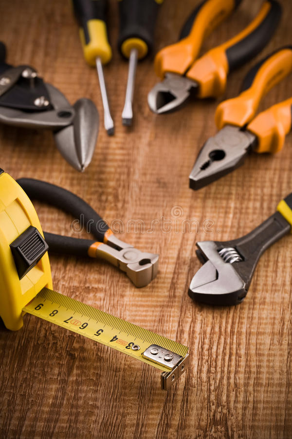 Free Set Of Building Tools Royalty Free Stock Photography - 19159037