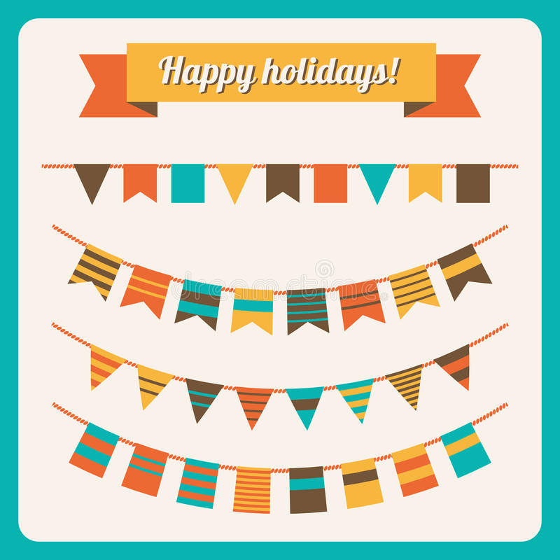 Free Set Of Bunting And Garland Royalty Free Stock Photography - 33167717