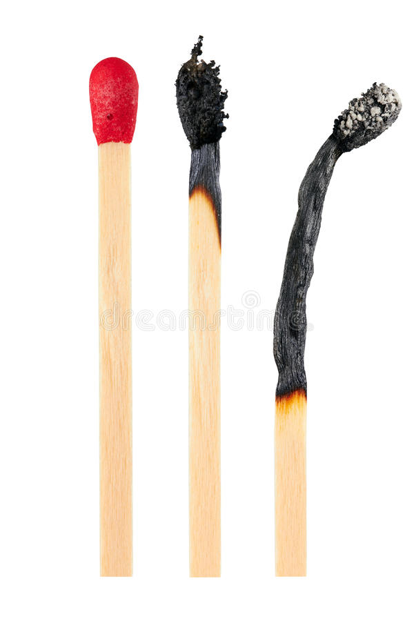 Free Set Of Burnt Match Stock Photography - 31383992