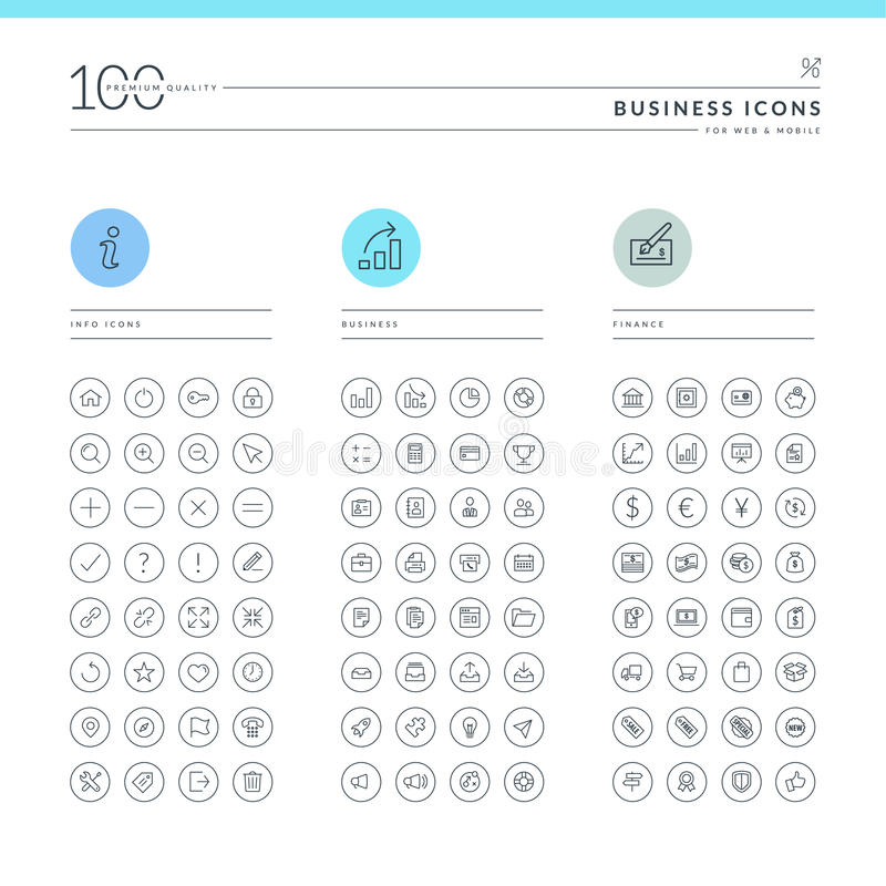 Free Set Of Business Icons Royalty Free Stock Images - 36445799