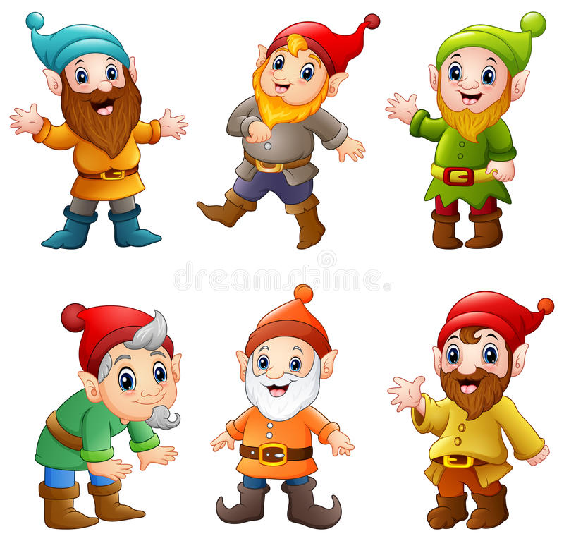 Free Set Of Cartoon Happy Dwarf Stock Photo - 94424260