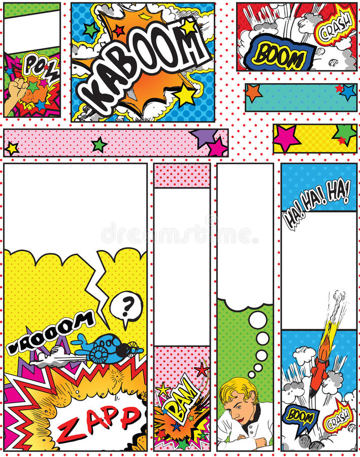 Free Set Of Cartoon Pop Art Style Banners Sizes Stock Photography - 13583762