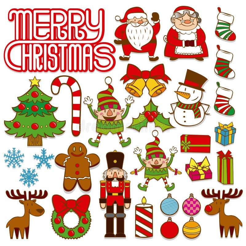 Free Set Of Christmas Elements Isolated On White Background Stock Images - 88783804