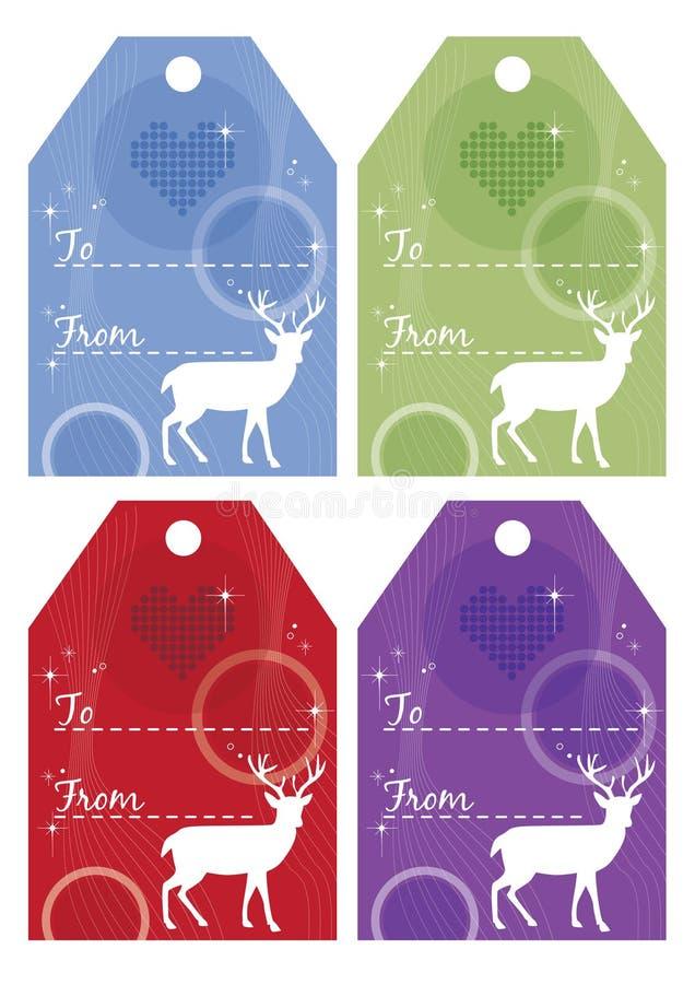 Free Set Of Christmas Gift Tags Stock Photos - 27536013