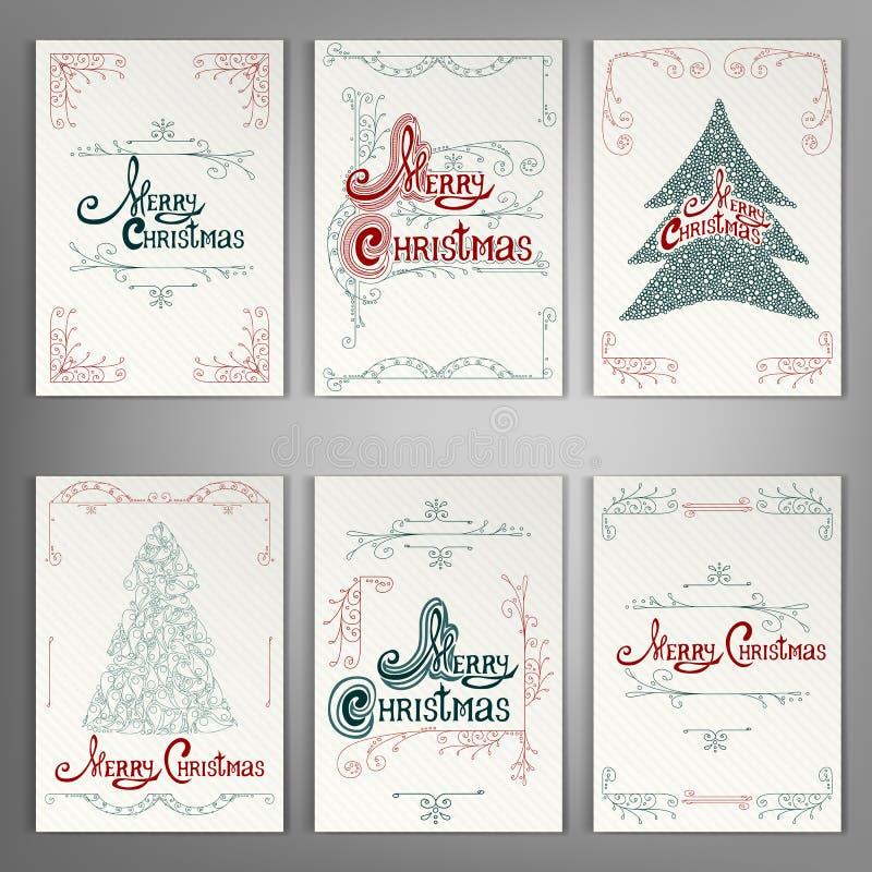 Free Set Of Christmas Greeting Cards. Stock Photo - 82328000
