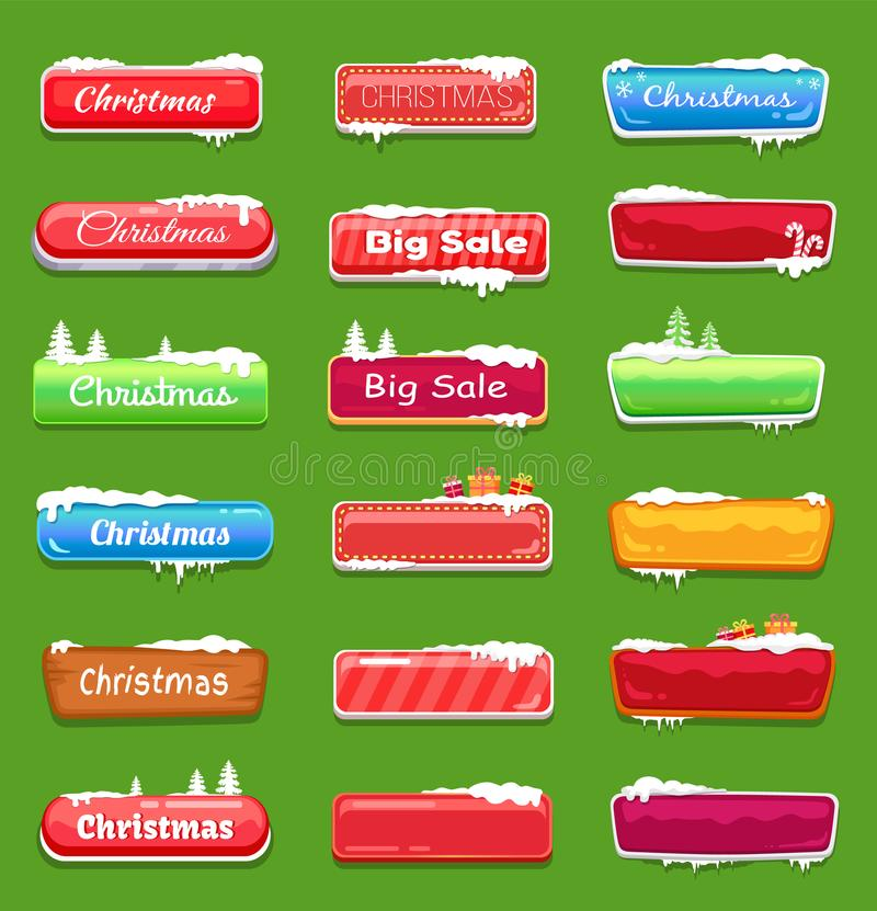 Free Set Of Chrtistmas Buttons Vector Illustration Stock Photo - 107944450