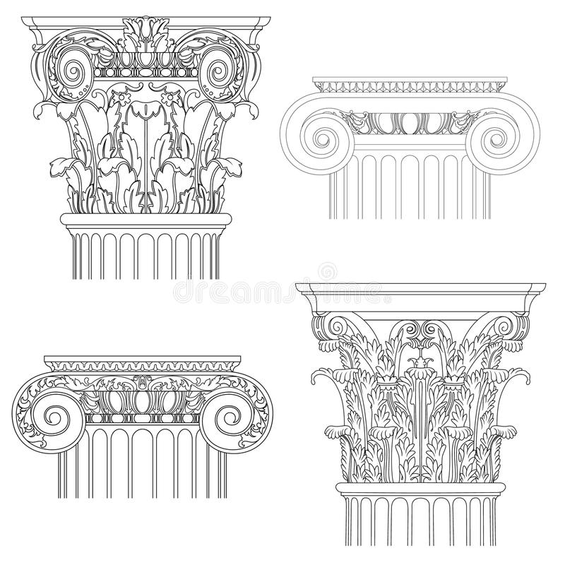 Free Set Of Classic Columns Royalty Free Stock Photos - 31580988