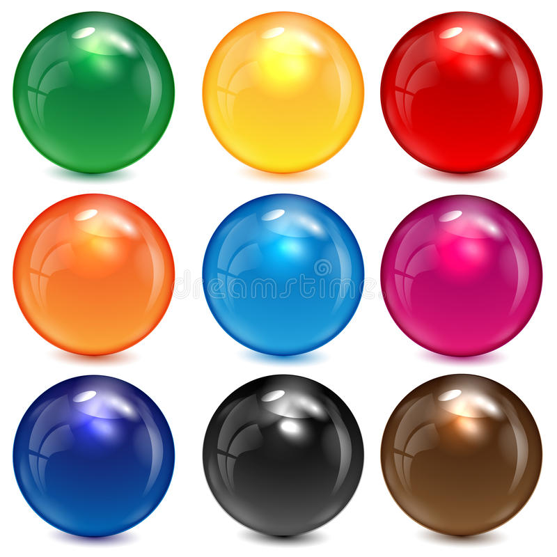 Free Set Of Colored Spheres Stock Image - 31515231
