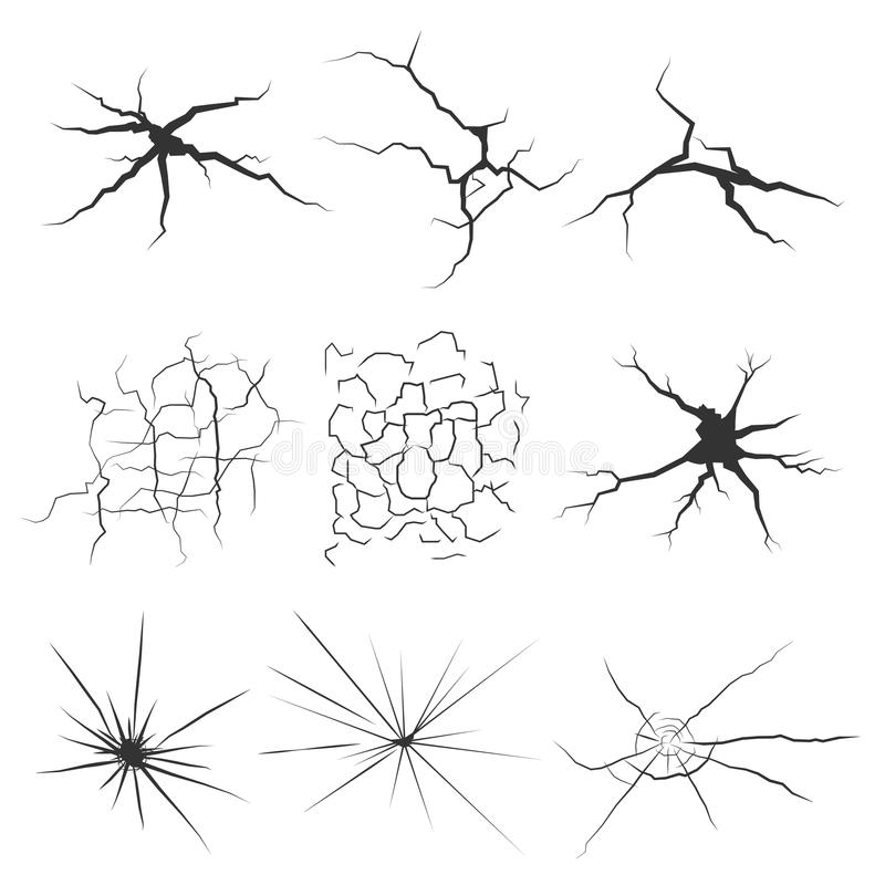 Free Set Of Cracks For Disaster Design. Stock Photos - 61208223