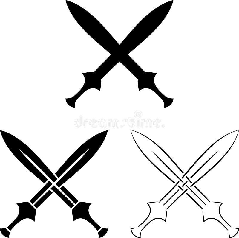 Free Set Of Crossed Swords Royalty Free Stock Photo - 36871525