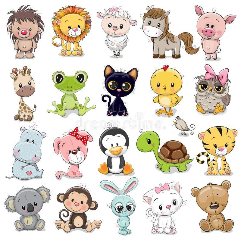 Free Set Of Cute Animals Royalty Free Stock Image - 172867136