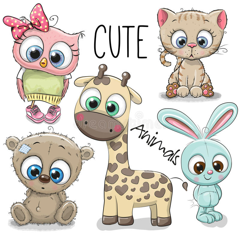 Free Set Of Cute Animals Stock Photos - 98375543