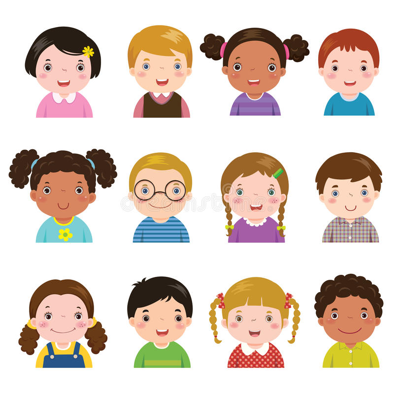 Free Set Of Different Avatars Of Boys And Girls Royalty Free Stock Photography - 67893427