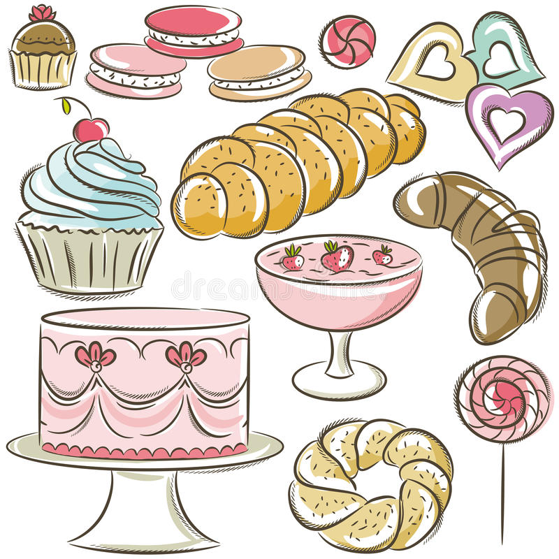 Free Set Of Different Sweetmeats Royalty Free Stock Image - 43405996
