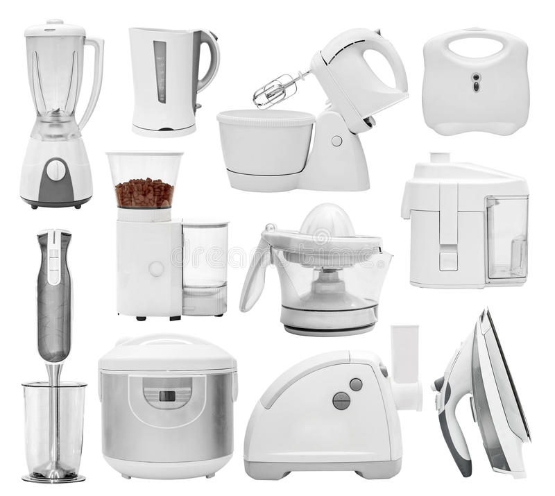 Free Set Of Different Types Of Kitchen Appliances Stock Images - 80782074
