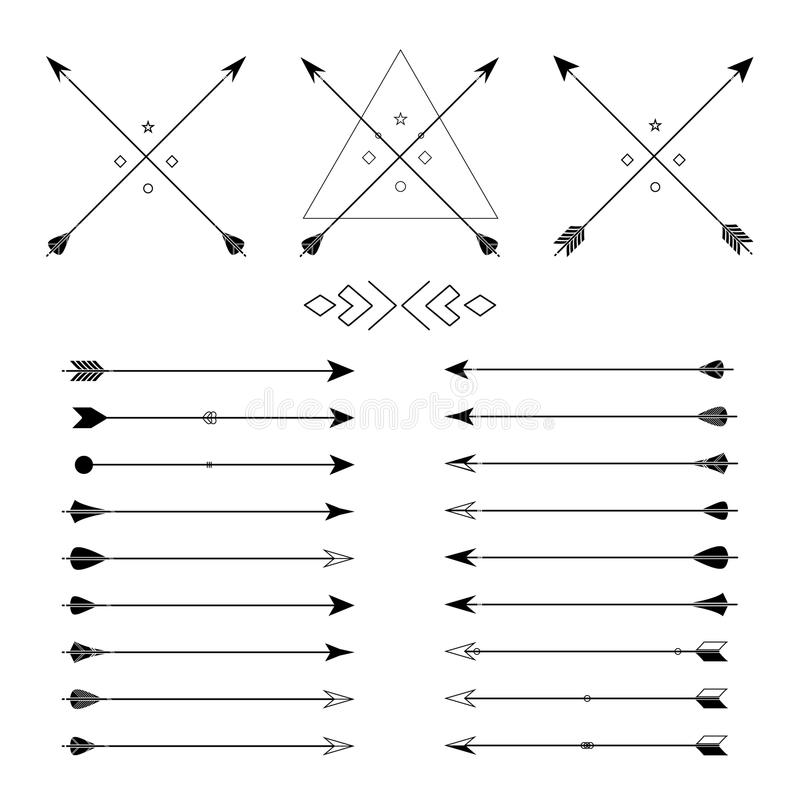 Free Set Of Different Vector Arrows Stock Images - 64697594